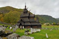 Borgund Stave Church, Norwegen Lizenzfreies Stockbild