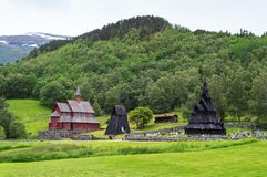 Borgund Stave Church, Norway Stock Photos