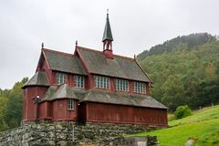 New Borgund Stave Church in Norway Royalty Free Stock Photography