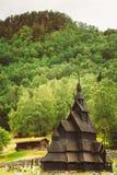 Borgund Stave Stavkirke Church, héritage norvégien Photographie stock libre de droits