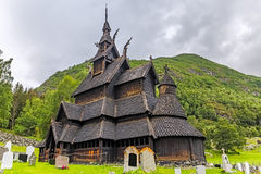 Borgund Stavkirke  in Norway Royalty Free Stock Image