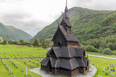 Borgund Stavkirke  in Norway Royalty Free Stock Photo