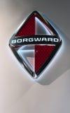 Borgward-Ausweis auf einer Wand Lizenzfreie Stockbilder