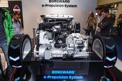 Borgward e-framdrivning system på IAAEN 2015 Royaltyfri Bild