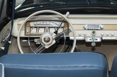 Borgward inside with steering wheel Royalty Free Stock Photography