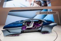 The Borgward Isabella Cocept Car. Frankfurt, Germany - Sep 20, 2017: The Borgward Isabella Cocept Car presentation at the Frankfurt International Motorshow 2017 royalty free stock photos