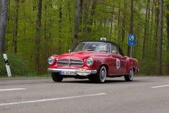 1959 Borgward Isabella Coupé Cabrio bij ADAC Wurttemberg Historische Rallye 2013 Stock Foto