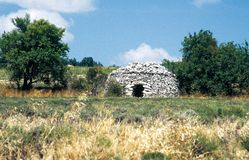 A well-preserved borie in Drôme Provençale, France stock photos