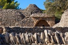 Bories by i Gordes, Luberon Provence, Frankrike Arkivbilder