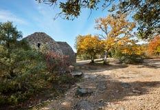 Bories vicino a Goredes in Francia Fotografia Stock