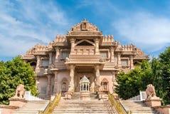 Borij Derasar,一个耆那教的寺庙在甘地讷格尔-古杰雷特,印度 库存图片