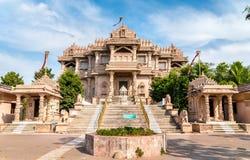 Borij Derasar,一个耆那教的寺庙在甘地讷格尔-古杰雷特,印度 免版税库存图片