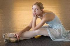 Boring ballerina royalty free stock images