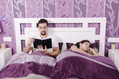 Boring at bedroom Stock Photography
