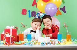 Boring birthday royalty free stock photography