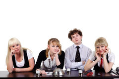 Boring business team Royalty Free Stock Photo