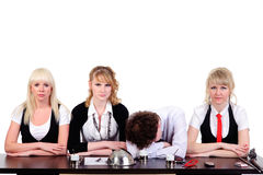 Boring business team Royalty Free Stock Image