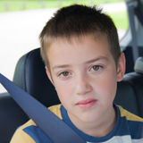 Boring car journey Stock Image