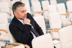 Boring conference. Royalty Free Stock Photography