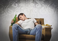 Boring evening Royalty Free Stock Photo