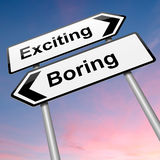 Boring or exciting concept. Royalty Free Stock Image