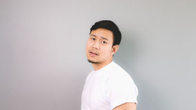 Boring face and pose. Royalty Free Stock Photos