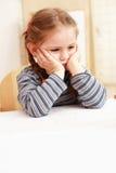 Boring girl stock photo