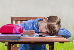 Boring homework Royalty Free Stock Photos