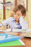 Boring homework Royalty Free Stock Photography