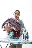 Boring household chores Stock Photo
