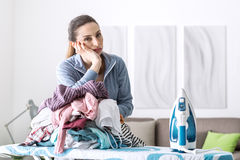 Boring household chores Stock Photography