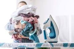 Boring household chores Stock Photos