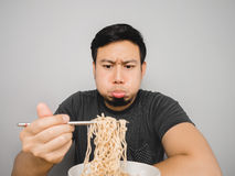 Boring instant noodles. Stock Images