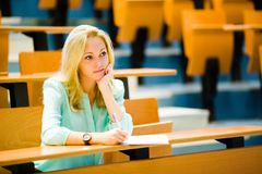 Boring lecture Royalty Free Stock Photography