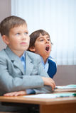 Boring lecture. Sweet Yawn! Stock Photography