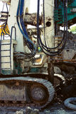 Boring machine on a building site Stock Image