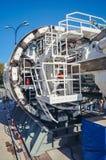 Boring machine van de tunnel stock afbeelding