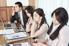 Boring meeting session Stock Images