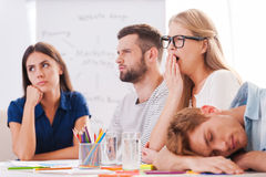 Boring presentation. Stock Photos