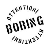 Boring rubber stamp Royalty Free Stock Image