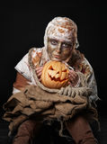 The boring and sad mummy in the studio Royalty Free Stock Photos