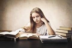 Boring study hour royalty free stock image