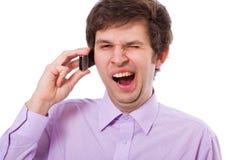 Boring telefoongesprek Royalty-vrije Stock Foto