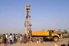 Boring van een put in Burkina Faso Faso stock afbeeldingen