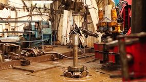 Boringsinstallatie, hydraulische key_4 stock video