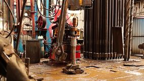 Boringsinstallatie, hydraulische key_2 stock footage