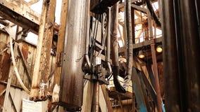 Boringsinstallatie, hydraulische key_7 stock footage