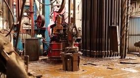 Boringsinstallatie, hydraulische key_3 stock videobeelden