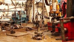 Boringsinstallatie, hydraulische key_5 stock videobeelden