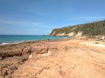 Borinquen plaża Aquadillia Puerto Rico obraz stock